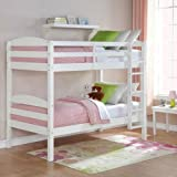 Mainstays Twin Over Twin Wood Bunk Bed (White)