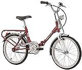Cicli Cinzia Firenze - Bicicleta plegable, cuadro de acero, ruedas de 20', talla 31, rojo