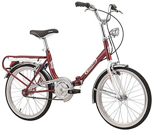 Cicli Cinzia Bicicletta 20' Pieghevole Firenze, Senza Cambio, Rosso/Bianco, Unisex – Adulto