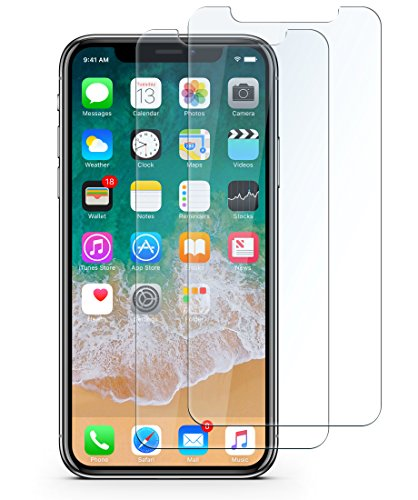 Bangbreak iPhone X Tempered Glass Screen Protector, iPhone X Screen Protector, iPhone X Glass Screen Protector. 9H hardness 3D Touch Compatible Best Glass for Your best phone (Clear)