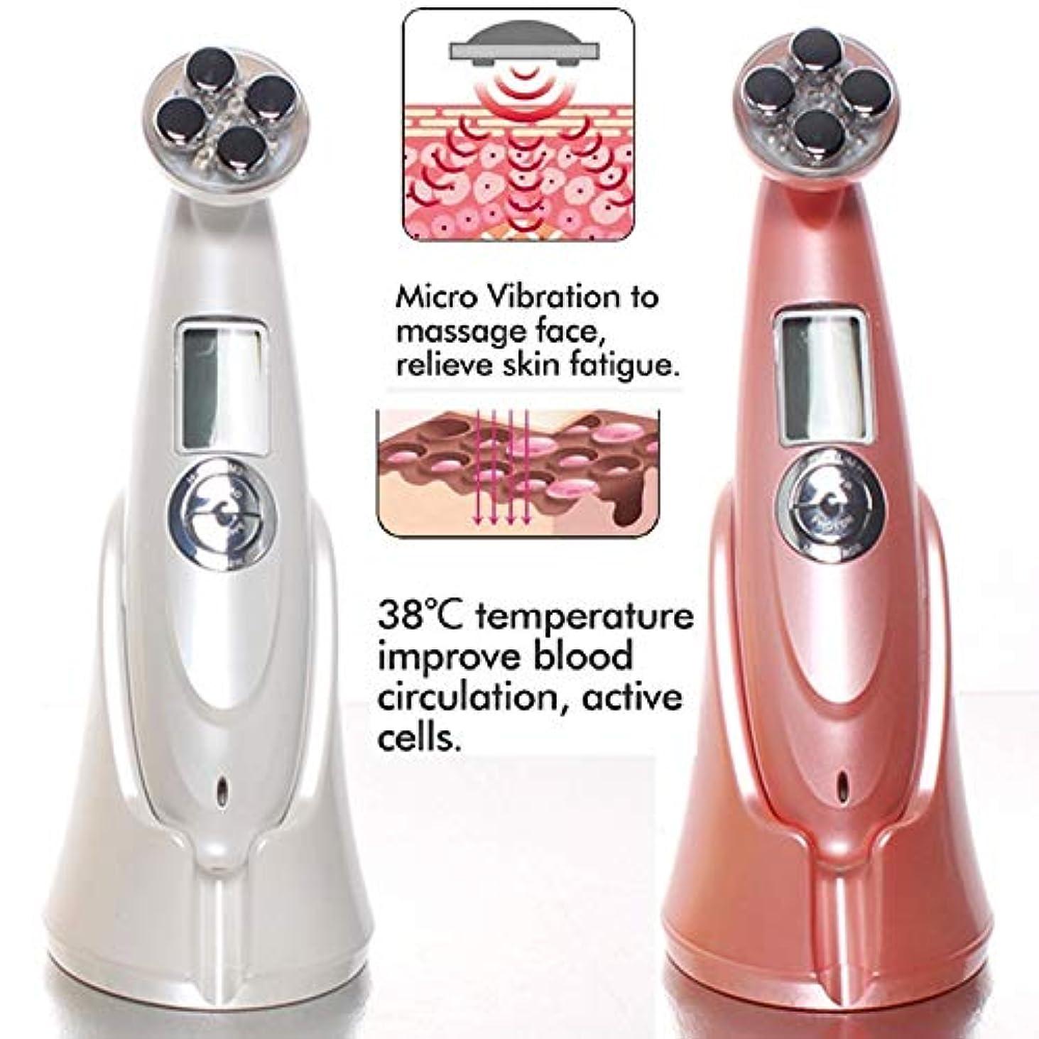 リンス栄光りLIZIB 超音波EMS美容器具LEDアップグレード版フェイシャルマッサージ器具家庭用皮膚引き締め電子美容器具 (Color : Pink, Size : 180*5*6CM)