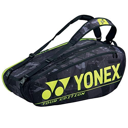 YONEX Pro Racquet Bag BA92029EX - Bolsa para raquetas, 9 unidades, color negro y amarillo