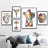Herz Gehirn Menschliche Anatomie Poster Kunstdrucke Organ