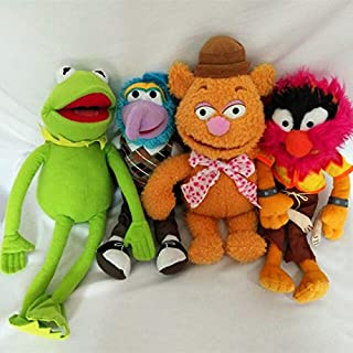 TANGGOOO 38Cm Big Size The Muppet Plush Toy The Frog,Fozzie Bear,Animal,Gonzo Stuffed Toys for Kids Toy Dolls Must Have Baby Items Baby Girl Gifts The Favourite Comic Superhero Stickers UNbox Toys