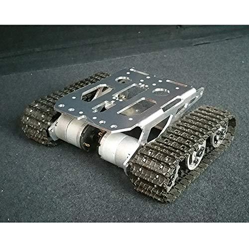 TMIL Aluminiumlegierung-Metall Smart-Robot Chassis Mit Doppel-Motor, Tank-Raupenketten Roboter-Plattform Für Ardunio DIY Robotermontage