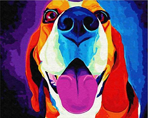 PEIYUH Madera Puzzles Rompecabezas 1500 Piezas para Adultos 3D clásico Rompecabezas Colorido Beagle DIY Rompecabezas Educativo decoración para el hogar Regalo único-87x58 cm