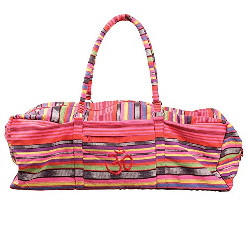 Yoga-Mad Deluxe Yoga Kit Bag   Full Zip Carrier Yoga Bag with Storage Pockets   Pilates Unisex Bag,...