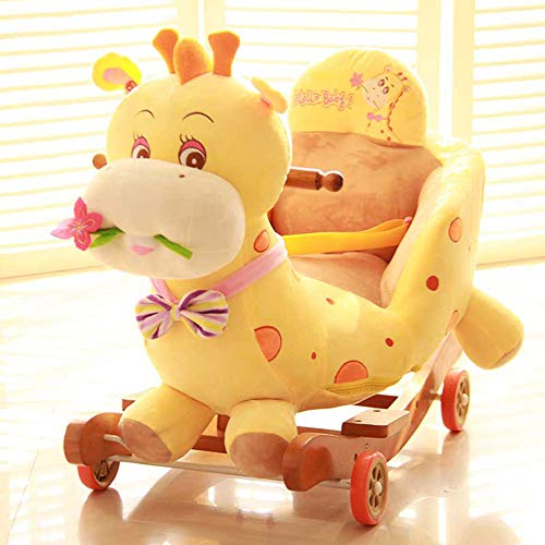 QIANG Ride On Toys For 1 Year Olds Boys Girls Baby Rocking Horse Kid Rocker, Ride On Horse Infant Rocking Animal, Baby Toys Ride On Car Toddler Toys Baby Stroller Birthday Gifts,F