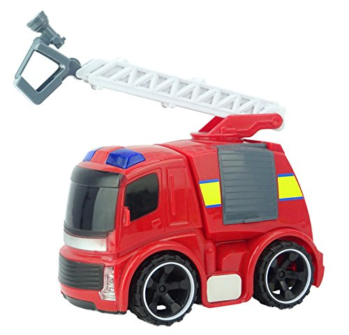 Brandweerwagen met ladders Voertuig - Licht en geluid wrijvingsvermogen - Gegoten voertuigen - Kinderspeelgoed