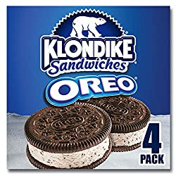 Klondike Oreo Ice Cream & Frozen Dessert Sandwiches For a Refreshing Treat Oreo Kosher 4 oz 4 ct