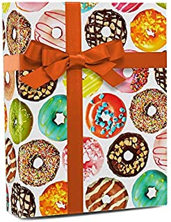 Donut Shoppe Party Folded Gift Wrapping Paper (2 ft x 10 ft)