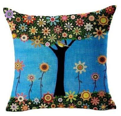 UYSDF Home Office Sofa Hug Pillowcase Cushion Butterfly Shell Girl, Linen 45x45 cm,45 * 45 cm Kissenbezug
