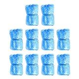 Minkissy 100 Piezas de Calzado Desechable Cubre Alfombras de Limpieza Cubre Cubrebotas Impermeables a Prueba de Polvo para Días Lluviosos Al Aire Libre Interior (Azul)