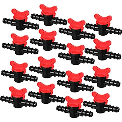 Drip Irrigation Switch Valve Gate Valves for 1/2 Inch Double Male Barbed Valve (16) from Boao