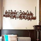 YuanMinglu Almuerzo Pegatinas de Pared Estilo Americano Hollywood Movie Star Tatuajes de Pared decoración para el hogar murales decoración para el hogar Sala de Estar o Dormitorio marrón 161cm x 70cm