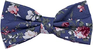 Lovacely Mens Cotton Floral Printed Bow Tie Pre-Tied Wedding Party Bowtie - Various Styles
