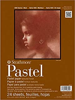 "Strathmore 400 Series Pastel Pad, Assorted Colors, 18""x24"" Glue Bound, 24 Sheets"