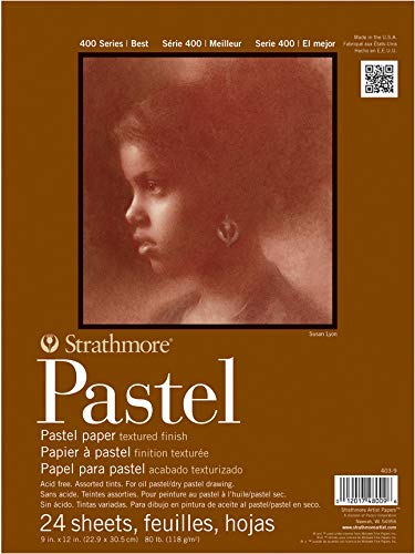 Strathmore 400 Series Pastel Pad, Assorted Colors, 18'x24' Glue Bound, 24 Sheets