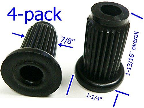 """Oajen Caster Socket for 7/16"""" Diameter Grip Ring stem, 4-Pack, 1"""" OD 16 Gauge Round Tube, 4-Pack, Heavy Duty, 7/8"""" Socket OD"""