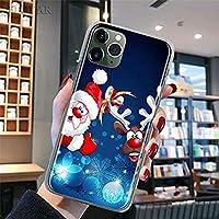該当する iPhone 12 11 Pro MAX 7 8 11 X XR XSMAXメリークリスマス鹿携帯電話ケースハードPC携帯電話保護カバー傷のつきにくい色あせないケース