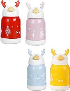 TOYMYTOY 4pcs Kids Deer Water Cup Reindeer Fawn Style Water Bottle Glass Drinking Water Tumbler Children Water Mug Drinkin...
