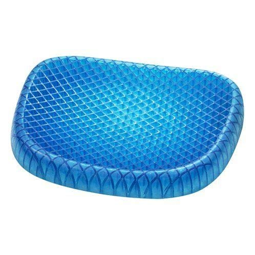 Pain relief silicon honeycomb Style TP GEL Cushion with black cover Office Home use for computer chairs to reduce pressure on lower back