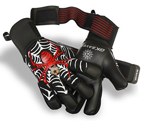 GK Saver - Guanti da portiere per calcio con trappola ragno, di qualità, professionali, per risparmiare le dita, non personalizzabili, taglia 10
