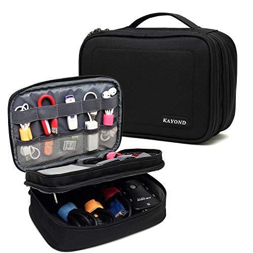 KAYOND Organizador de Electrónicos Bolsa de Viaje Accesorios Cable Gadget Gear Almacenamiento Casos para Tablet de 8 Pulgadas