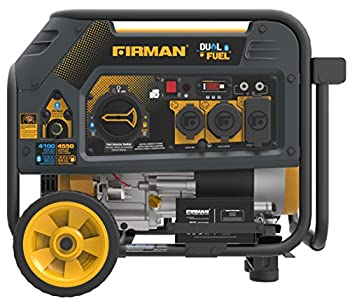 Firman Hybrid Series H03651 3650/4550 Watt Dual Fuel Generator Yellow