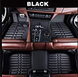 Logo Voitures Sol Tapis Imperméable à l'eau sur Mesure Tapis d'auto Avant et arrière ampère Tapis Floorliner Styling Auto Mat for Peugeot 3008 2013 2014 15 16-2019 (Color Name : Black)