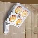 Hines Lámpara Yuba Moderna Calentador De Baño Interior Luz Protección Para Los Ojos Lámpara De Calefacción A Prueba De Explosiones Calentador Ajustable Impermeable 275W * 4 Luz De Baño