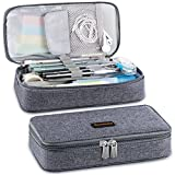 Homecube Pencil Case Big Capacity Pen Marker Holder Pouch Box Makeup Bag Oxford Cloth Large Storage Stationery Organizer with Zipper for School Office -Dark Gray