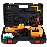 ROGTZ Electric Car Floor Jack Set 3 Ton All-in-one Automatic 12v Scissor Lift Jack with Impact Wrench for Tire Change Replacement