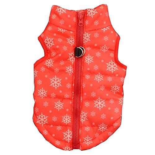 Pet Hunde Wintermantel Winter Gepolsterte Jacke Bekleidung, Hund Katze Warm Weiches Licht Coat Vest Jacke Harness Gepolsterte Puffer warm Winter Kleidung für Small Medium Hunde