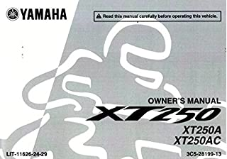 LIT-11626-24-29 2011 Yamaha XT250 Motorcycle Motorcycle Owners Manual