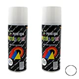 Paintusa - Pack de 2 botes de pintura en spray Blanco Brillo A21 200 ml
