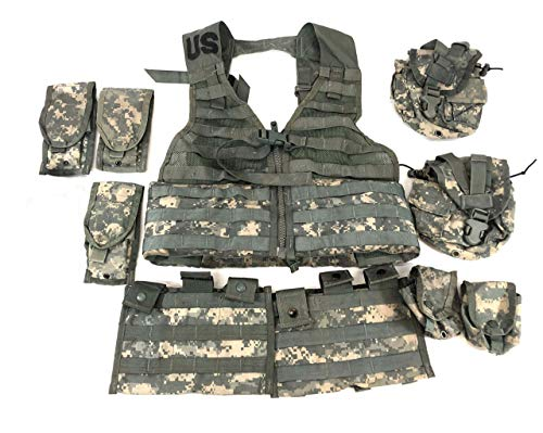 Specialty Defense Systems / Michael Bianco US Army Military Tactical ACU FLC LBV Molle Fighting Load Carrier Vest + 9 Pouch