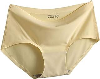 cd0a203e87a Hantioo Seamless Women Underwear Solid Silk Satin Underpants Ladies  Comfortable Breathable Briefs Women Intimate