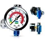 Le Lematec Air Flow Regulator, Air Compressor Regulator with Gauge, Controls Air Flow for Air Tools (AR-01)