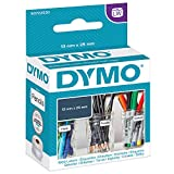 DYMO LW - Etiquetas Auténticas Multiusos Pequeñas, 13mm×25mm, Rollo de 1000Etiquetas con Reverso Fácil de Retirar, Autoadhesivas, para Rotuladoras LabelWriter