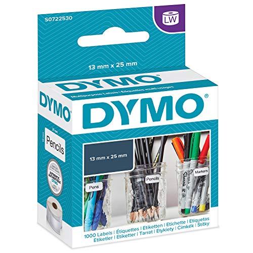 DYMO LW   Etiquetas Auténticas Multiusos Pequeñas, 13mm×25mm, Rollo de 1000Etiquetas con Reverso Fácil de Retirar, Autoadhesivas, para Rotuladoras LabelWriter