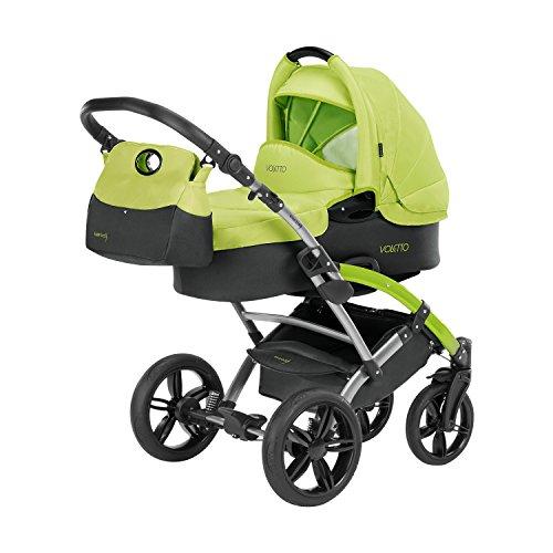 Knorr-Baby 3100-01 Kombikinderwagen Voletto Sport, schwarz-lemon