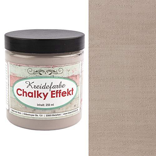 Ideen mit Herz Chalky Effekt Kreidefarbe, 250ml | hochdeckend | ultramatt | auf Wasser-Basis | Kreide-Farbe für Shabby-Chic & Vintage-Effekt (Taupe)