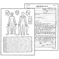 最新針灸カルテ(鍼灸カルテ)(A4)100枚1組 (SS-104)