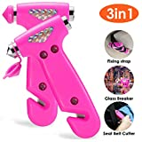 THINKWORK Car Safety Hammer for Teen Girl and Lady's Gifts, 2 Pack Three-in-One Emergency Escape Tool with Window Breaker and Seat Belt Cutter, Safety Emergency Car Escape Tool for Family, Children.