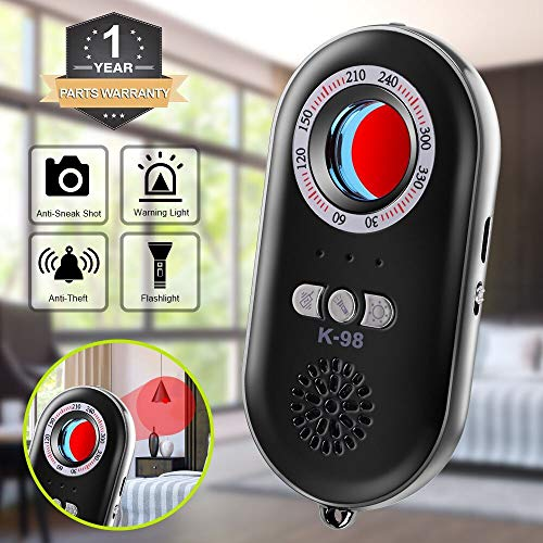 CaGuan Anti-Spy Hidden Camera Detector Infrared Portable Safesound Personal Alarm 3-in-1 Functionality Defense Emergency Alert with Mini LED...