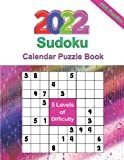 2022 Sudoku Calendar: Daily Sudoku Puzzles 9x9 Of The Year 2022 , January to December For Adults, 365 Puzzles, 5 Levels of Difficulty (Easy to Extreme)