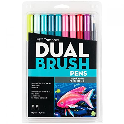 Dual Brush Pens Tombow Tropical Palette 56189