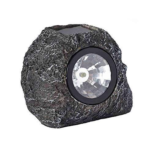 Pack of 4 Smart Garden Solar High Performance Super Bright 3 Lumen Spotlight Garden Path Granite Rock