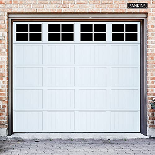 Magnetic Garage Door Windows Household Decorative 32 Pcs PVC Fake Window Decals Faux Hardware Magnets Kits Easy Installation for 2 Car Garage Panels (6